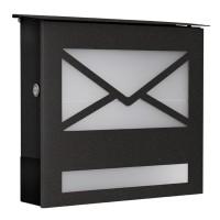 Briefkasten 43809, mit Acrylglasscheibe, grafitgrau
