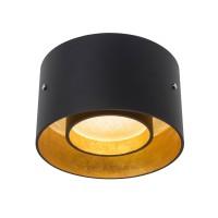 Oligo Trofeo LED Deckenleuchte, schwarz matt / Blattgold