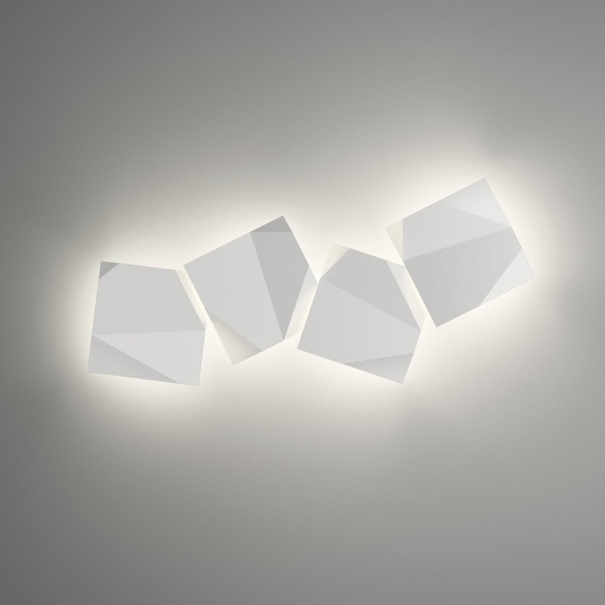 Vibia Origami 4508 Wandleuchte, 4-flg., weiß matt