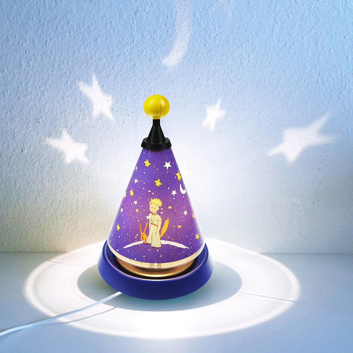 Niermann Standby Kleiner Prinz Carrousel Tischleuchte, mit Sternen Projektion