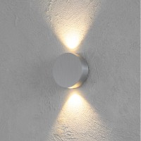 Escale Sun Wandleuchte, Aluminium geschliffen