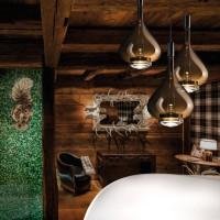 Studio Italia Design Sky-Fall Medium Pendelleuchte, Chrom / Kupfer glänzend