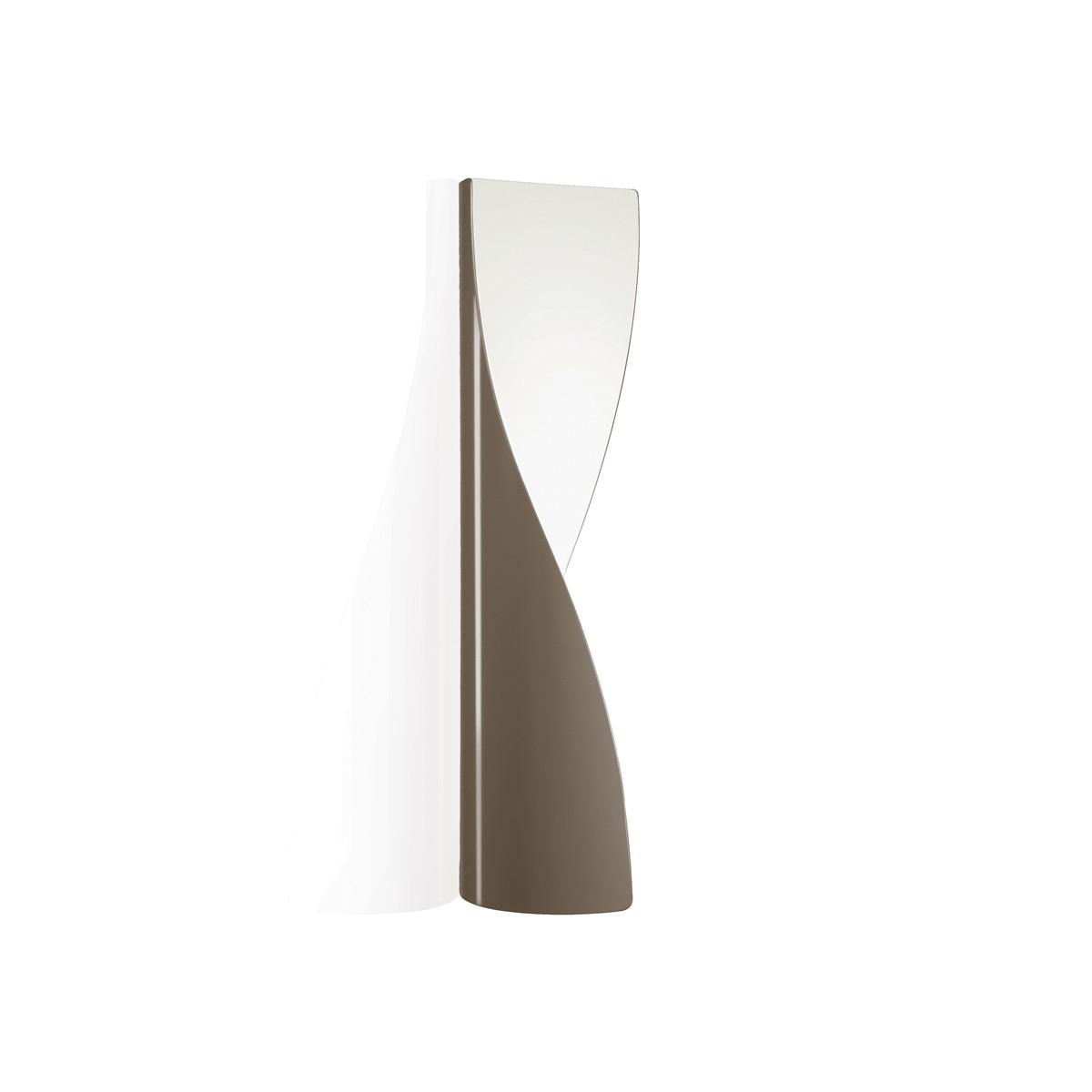 Kundalini Evita LED Wandleuchte, taubengrau glänzend