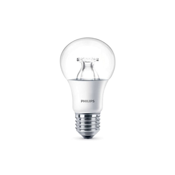 Philips LED Lampe E27 8,5 W, Warmglow, dimmbar, klar
