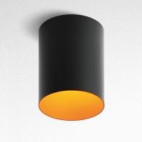 Tagora 270 Deckenleuchte, schwarz - orange, nicht dimmbar