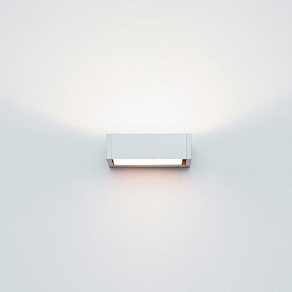 Serien.lighting SML Wall, S, Breite: 8,5 cm, Alu silber eloxiert, Gläser: satinée