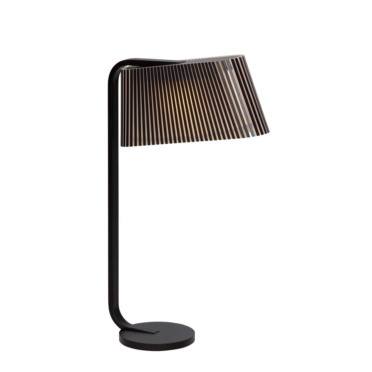 Secto Design Owalo 7020 Tischleuchte, schwarz, Schirm: schwarz laminiert