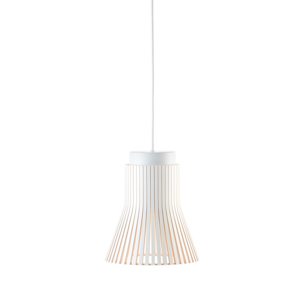 Secto Design Petite 4600 Pendelleuchte, weiß laminiert, Kabel: weiß