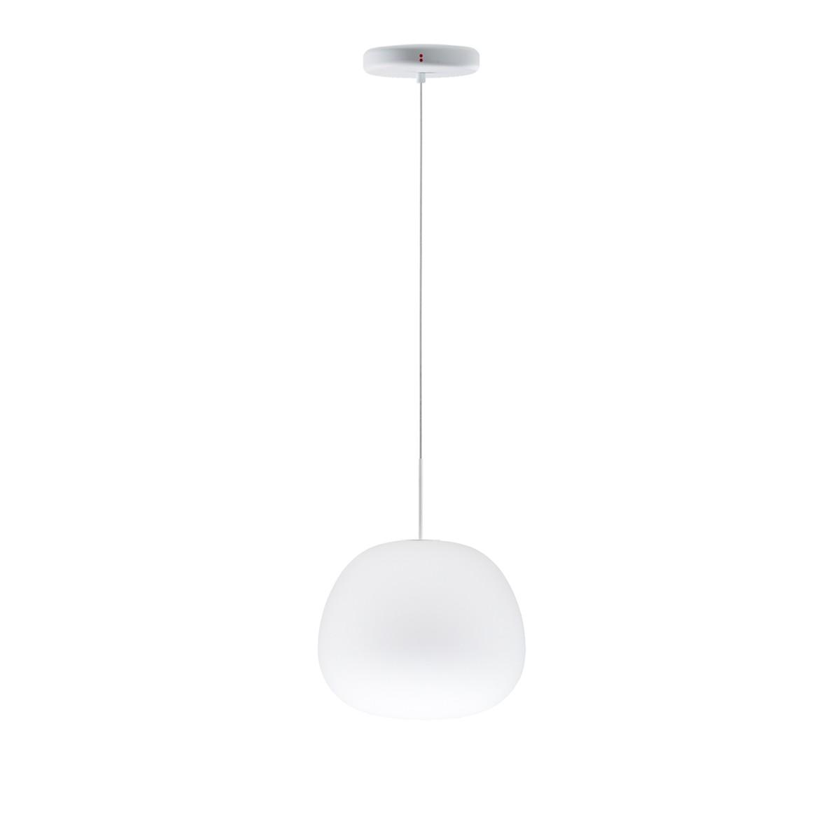 Fabbian Lumi Mochi Pendelleuchte, Ø: 20 cm, weiß