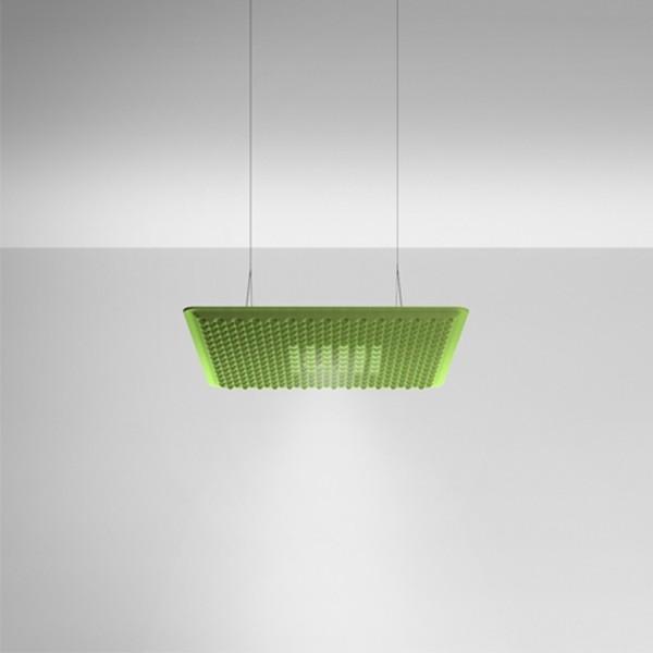 Artemide Eggboard Matrix Direkt - Indirekt, 80 x 80 cm, grün