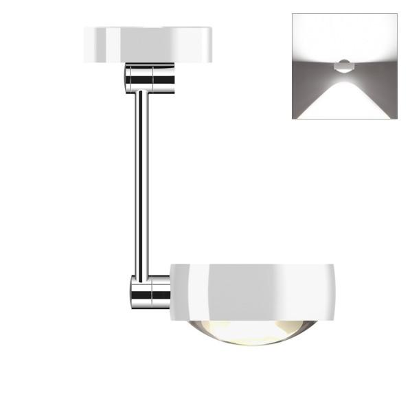 Occhio Sento E LED soffitto singolo up, 30 cm, Chrom / weiß glänzend