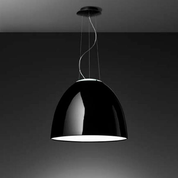 Artemide Nur Gloss LED Sospensione, schwarz glänzend