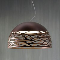 Kelly Large Dome 80 Pendelleuchte, Bronze
