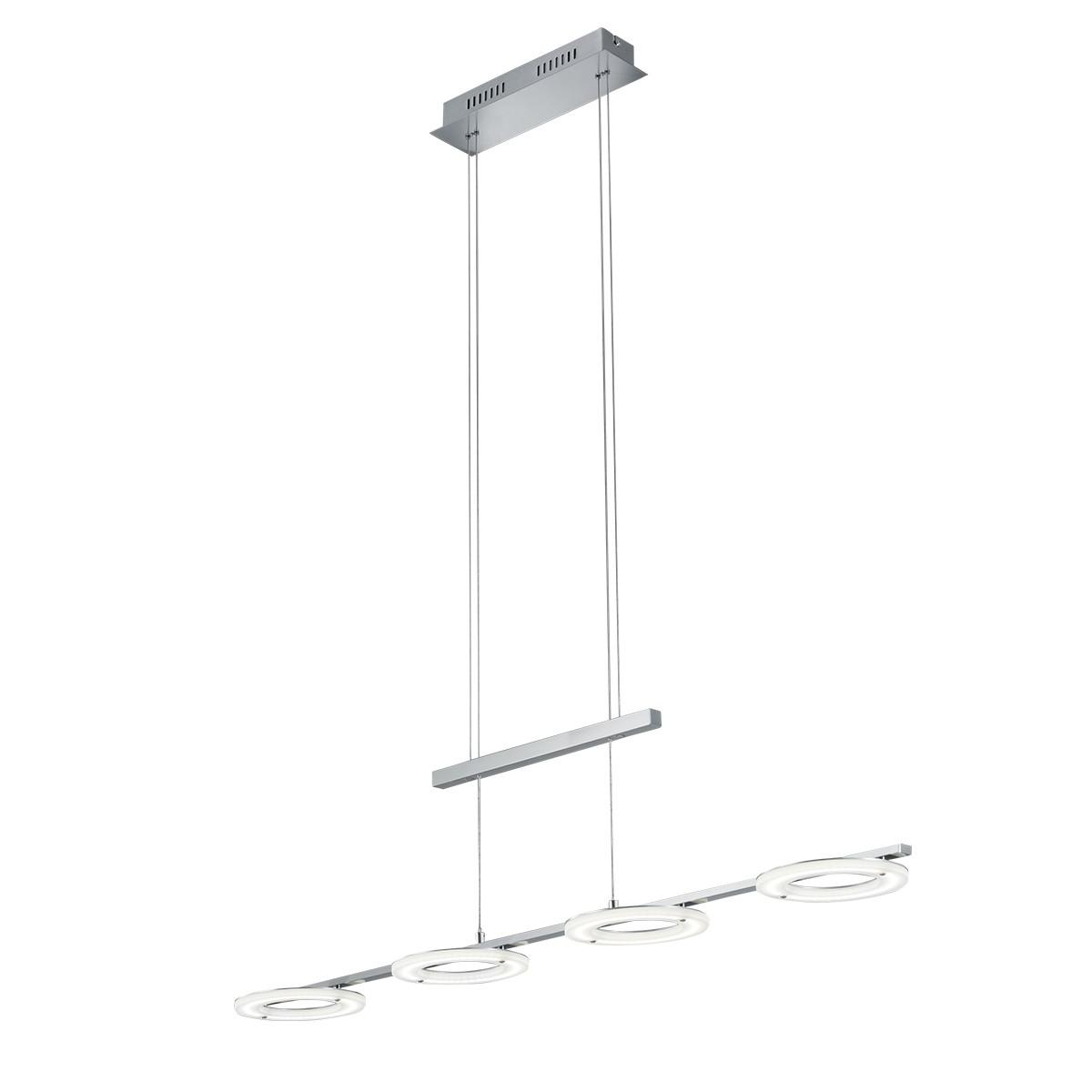 B-Leuchten Mica LED Balken-Pendelleuchte, Nickel matt / Chrom