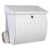 Krosix Briefkasten, weiß / Gold