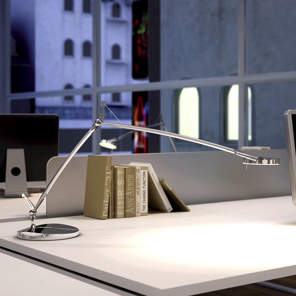 Milan Perceval LED Tischleuchte, Chrom