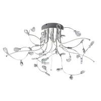 Crystal Deckenleuchte, Ø: 54 cm, Chrom