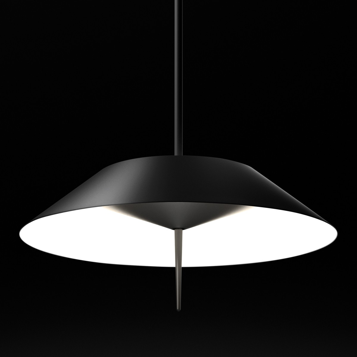 Vibia Mayfair 5525 Pendelleuchte, graphitgrau matt