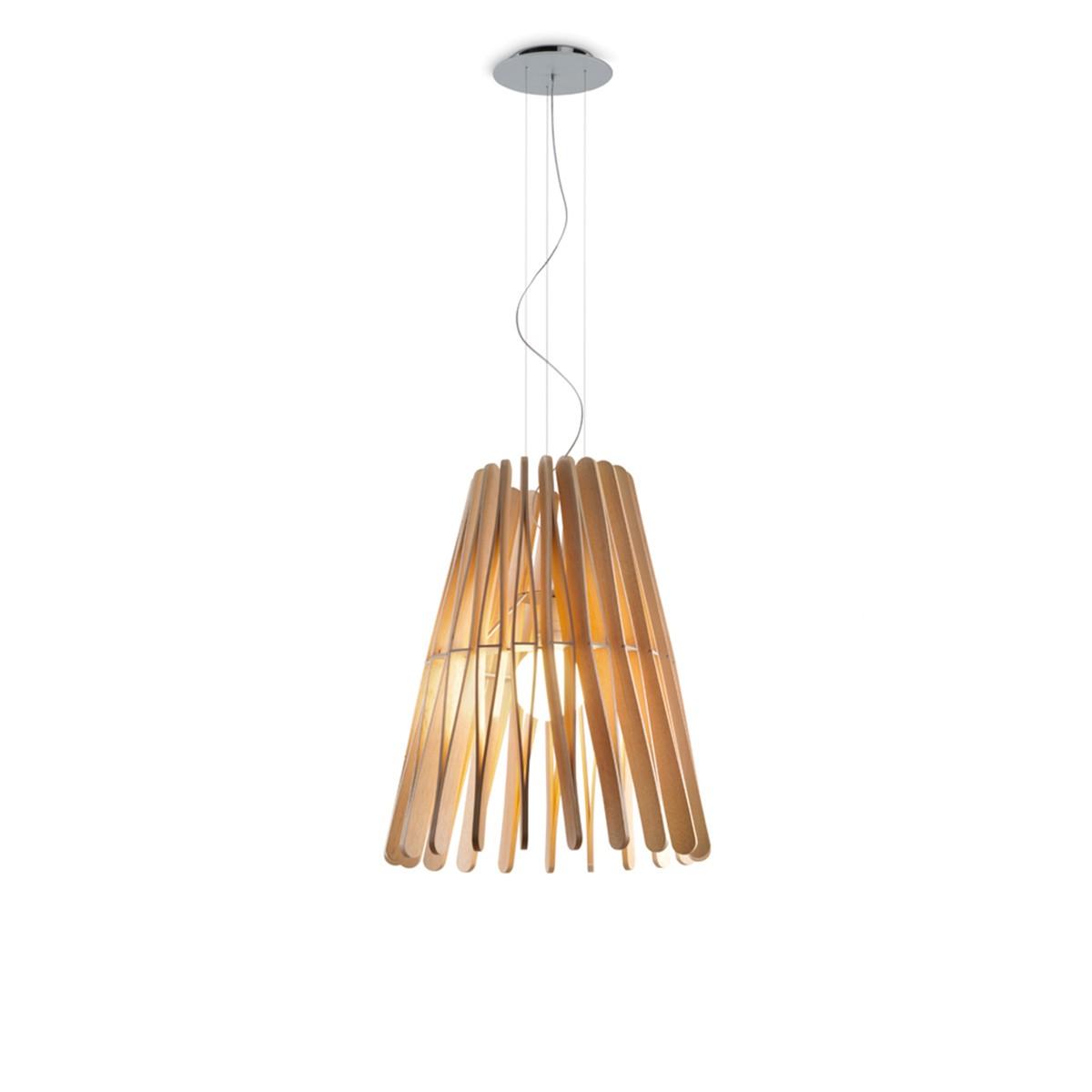 Fabbian Stick Cono Pendelleuchte LED (E27), Holz