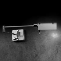 Holtkötter 9870 LED Wandleuchte, Nickel matt