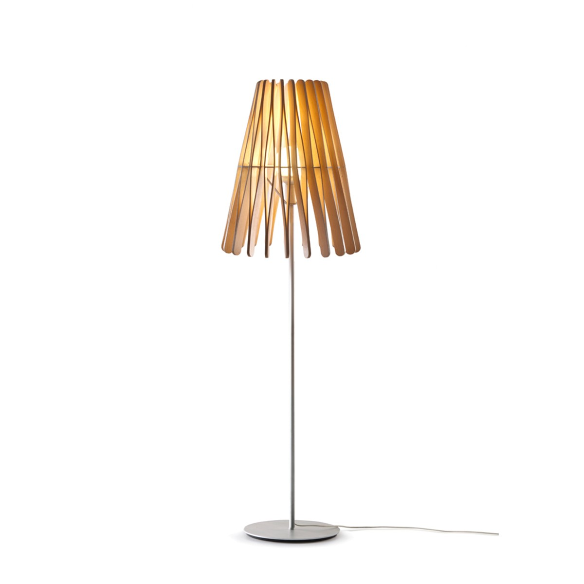 Fabbian Stick Cono Stehleuchte LED (E27), Holz