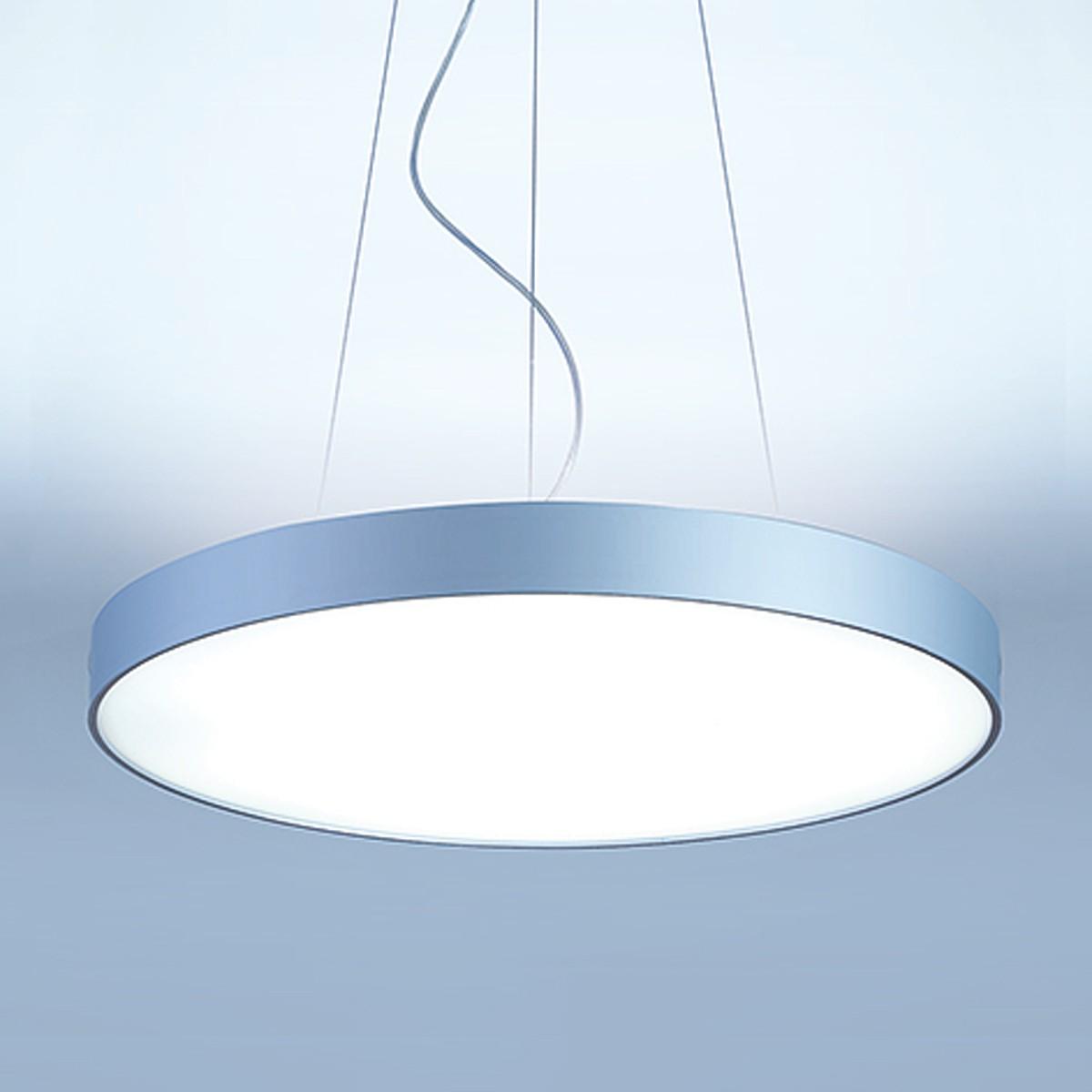 Lightnet Basic-P1 Pendelleuchte, Ø: 60 cm, Silber matt