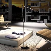 Perceval LED Stehleuchte, Chrom