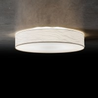 Vita 6 Deckenleuchte, Ø: 70 cm, Wellenoptik weiß