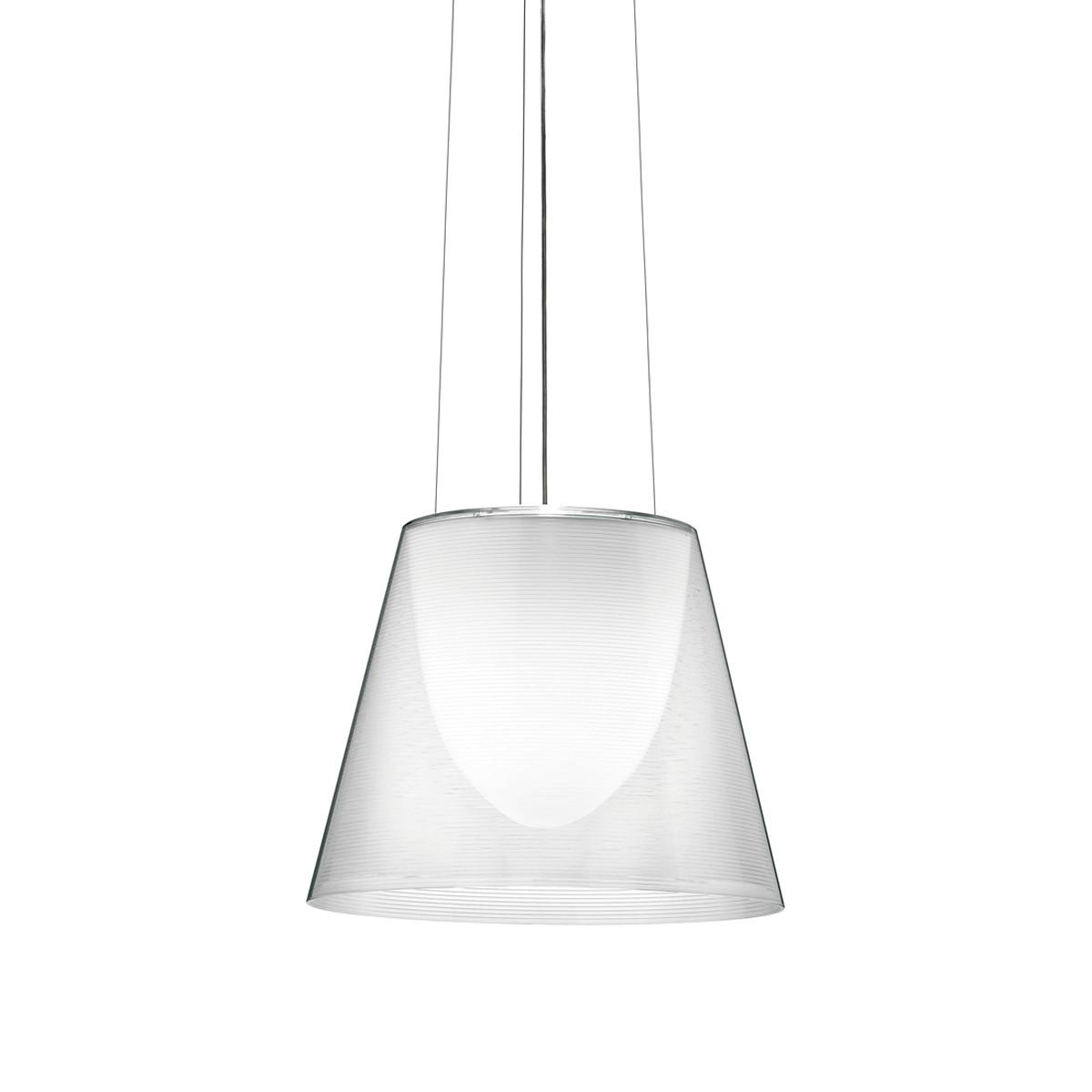 Flos KTribe S Pendelleuchte, S2, Ø: 39,5 cm, transparent