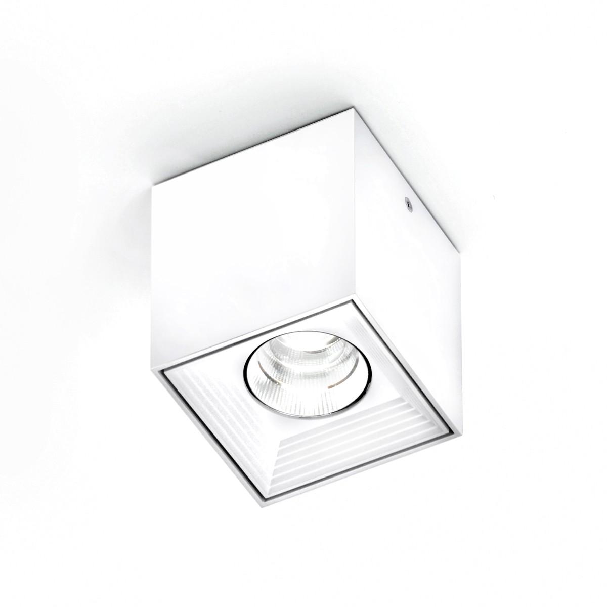Milan Dau Spot LED Deckenstrahler, mattweiß lackiert