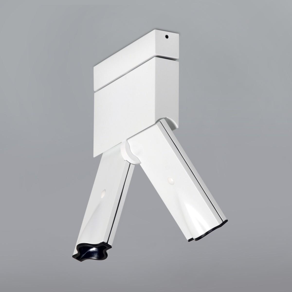 Milan Bessons Deckenstrahler, 13 x 3,2 cm, weiß lackiert
