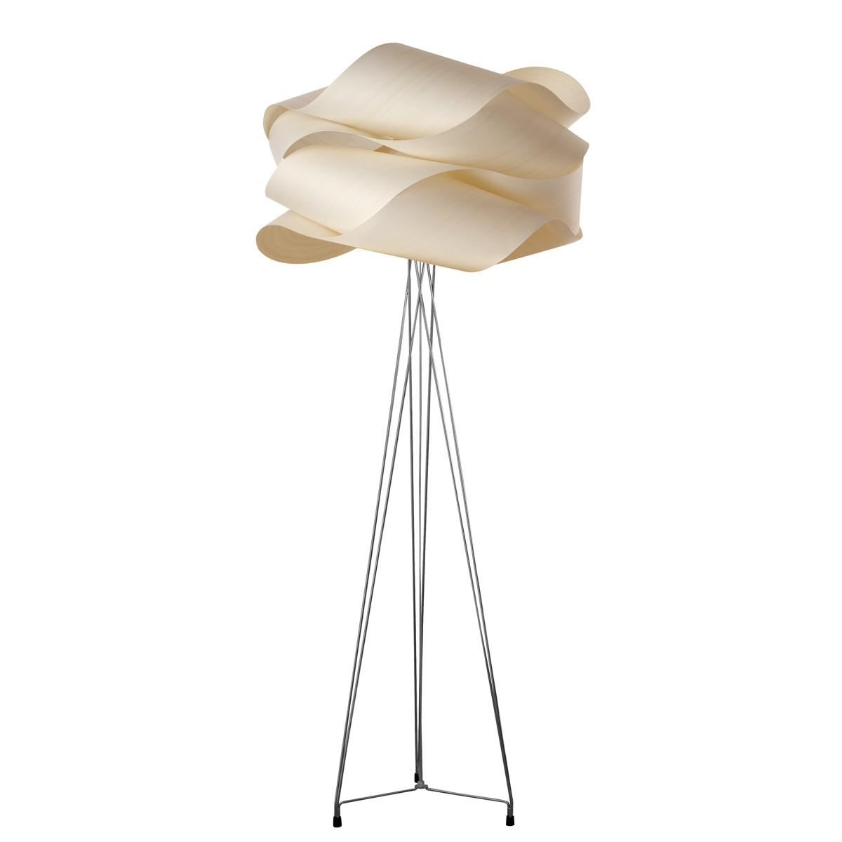 LZF Lamps Link Stehleuchte, Schirm: elfenbeinweiß