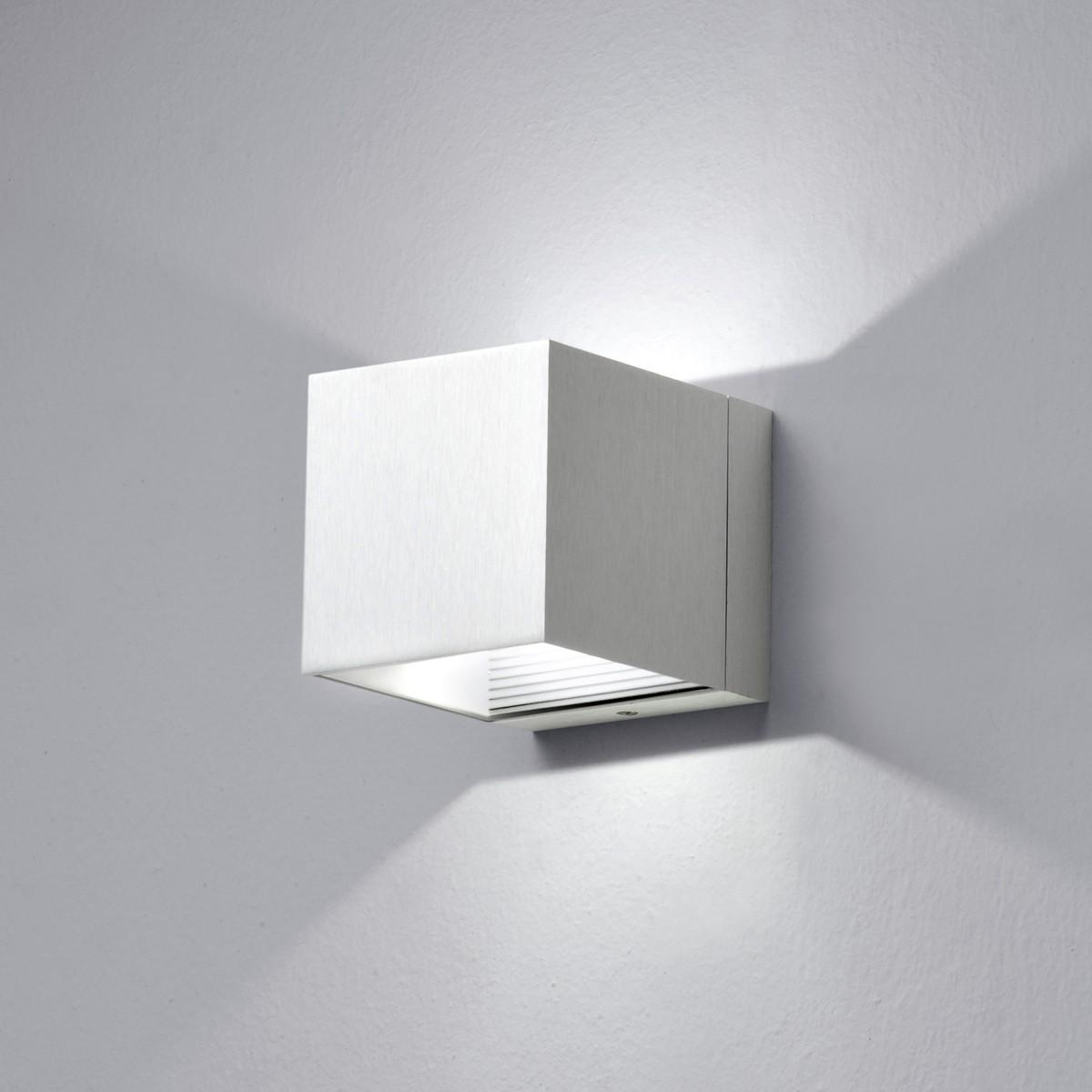 Milan Dau LED Up & Down Wandleuchte, Aluminium gebürstet
