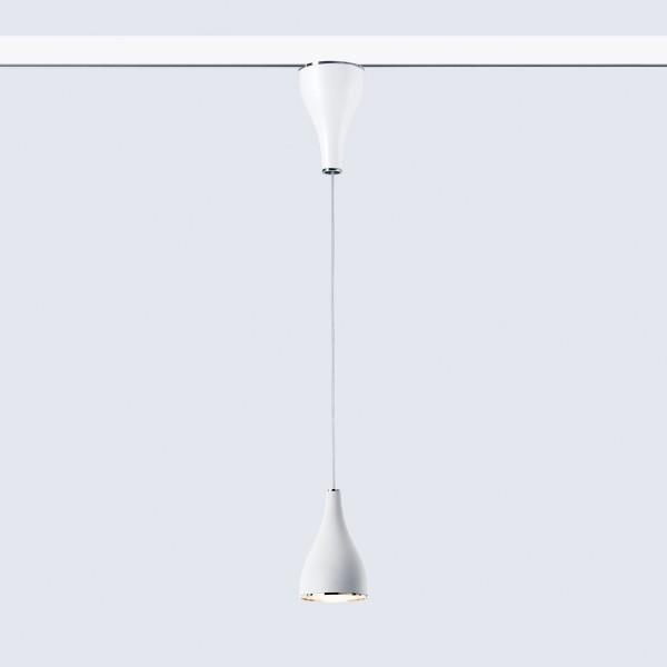 Serien.lighting One Eighty Suspension Track mit Höhenverstellung, S, Ø: 11,5 cm, weiß lackiert