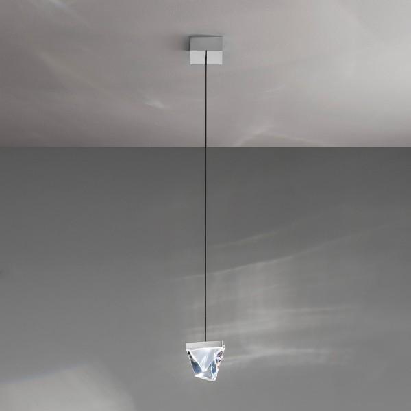 Fabbian Tripla Pendelleuchte, 1-flg., Aluminium poliert