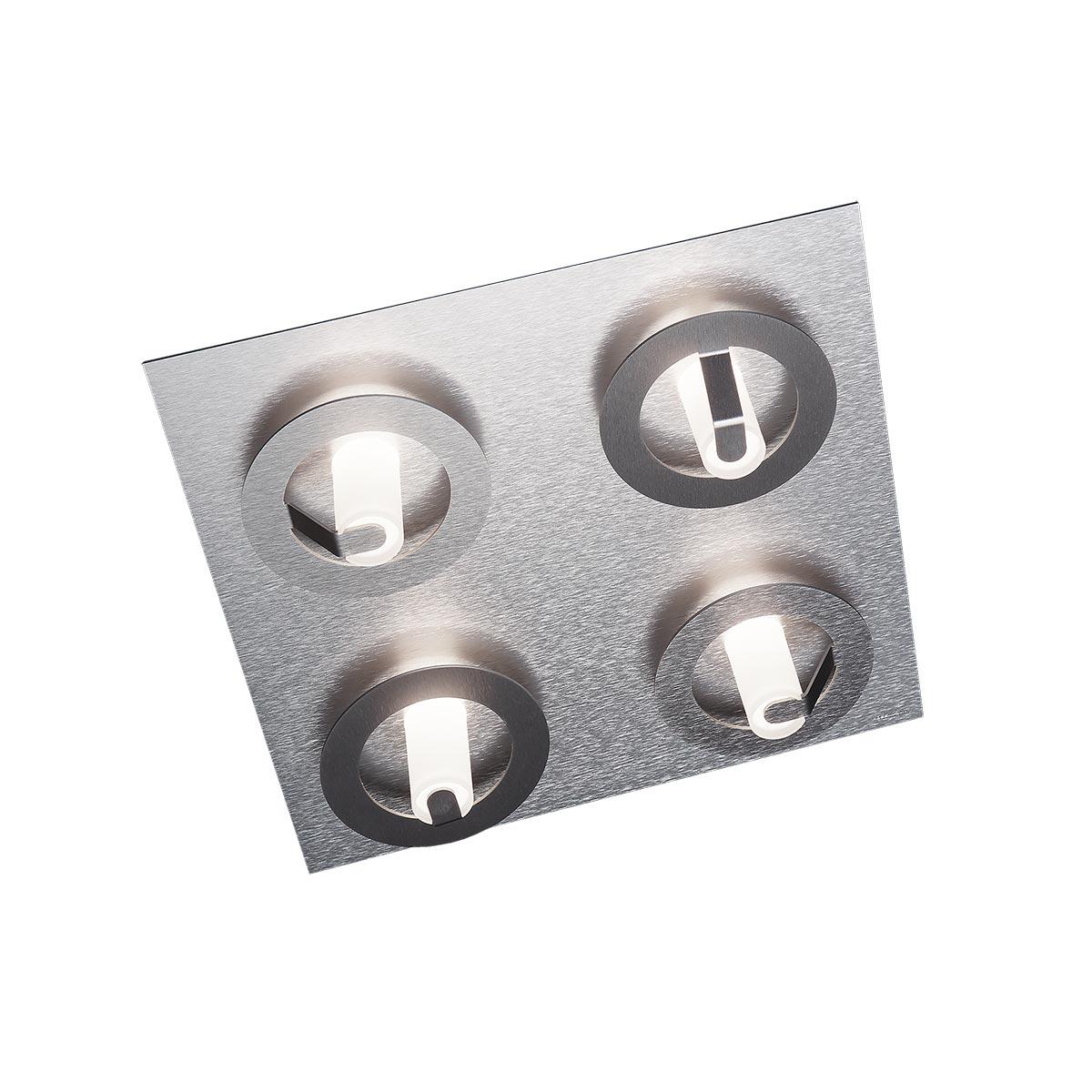 Grossmann Q LED Deckenleuchte, 4-flg., quadratisch 75-818-072