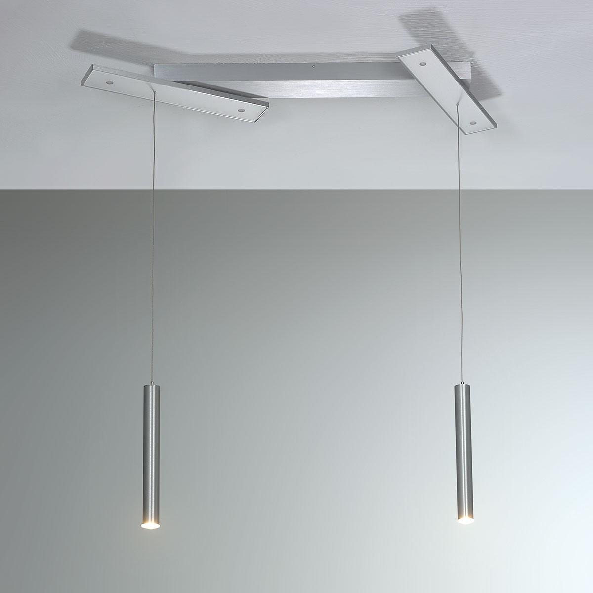 Bopp Plus LED Pendelleuchte, 6-flg., Aluminium geschliffen