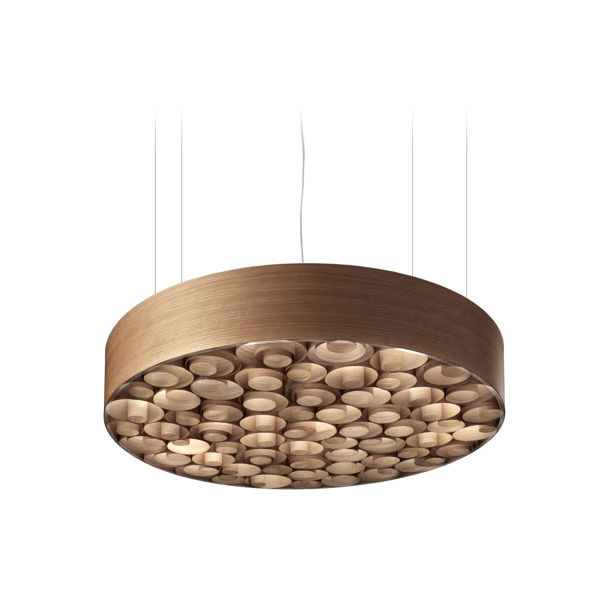 LZF Lamps Spiro Medium LED Pendelleuchte, äußerer Schirm: Kirsche, innen: Kirsche