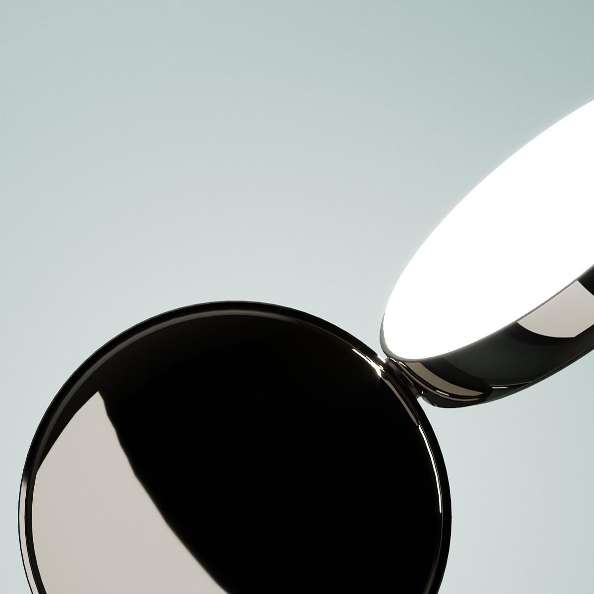 Fontana Arte Optunia LED Wandleuchte, schwarz Nickel