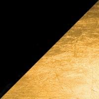 Lederam W Wand- / Deckenleuchte, Ø: 17 cm, Scheiben: schwarz/Gold