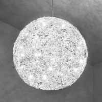 Fil de Fer Pendelleuchte, Ø: 90 cm, Aluminium