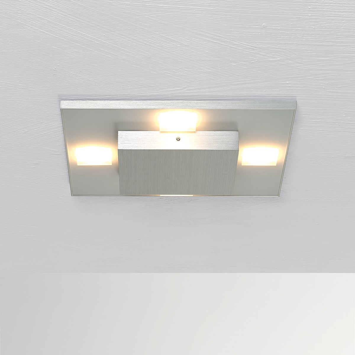 Bopp Slight LED Deckenleuchte, 32 x 32 cm, Aluminium geschliffen