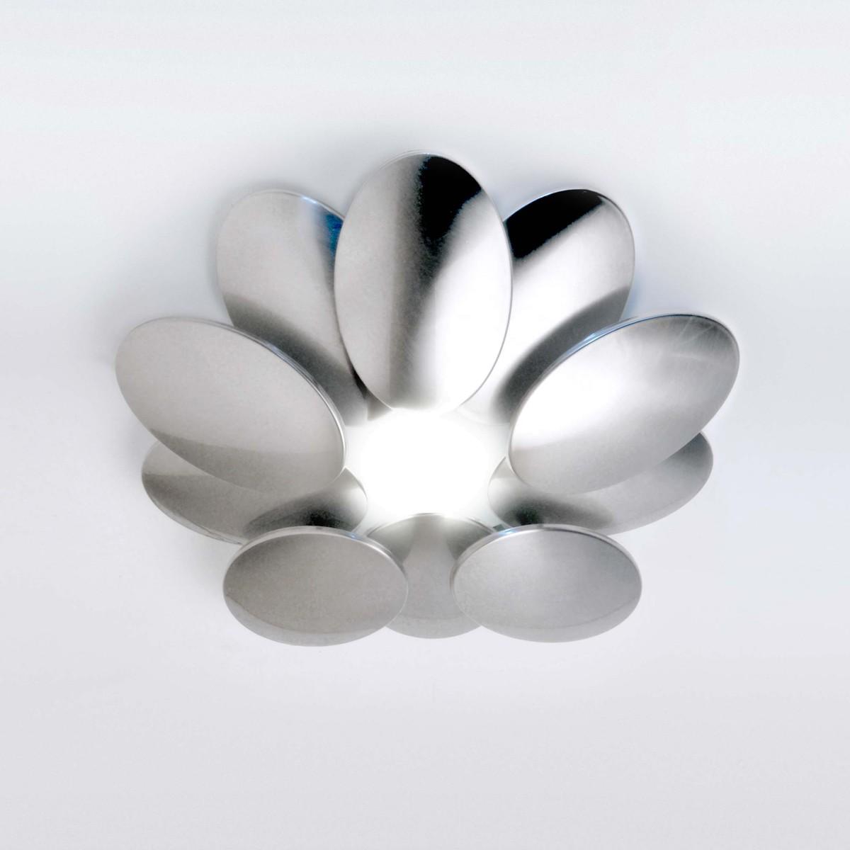 Milan Obolo Deckenleuchte, Ø: 35,4 cm, Nickeloptik gebürstet