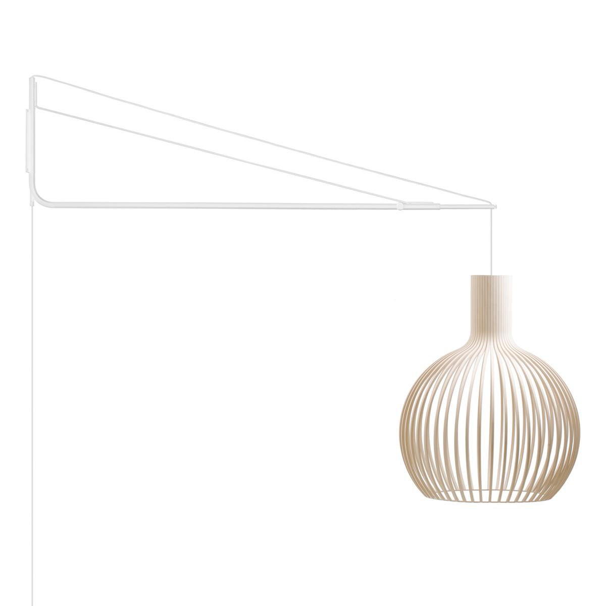 Secto Design Varsi 1000 Wandleuchte mit Octo 4240, weiß, Schirm: Birke natur
