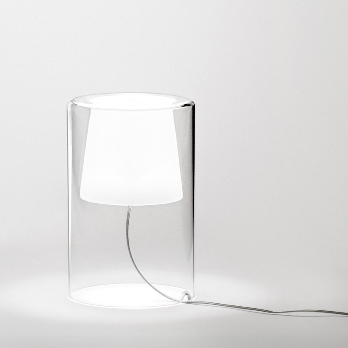 Vibia Join Tischleuchte, Höhe: 21 cm, Borosilikatglas