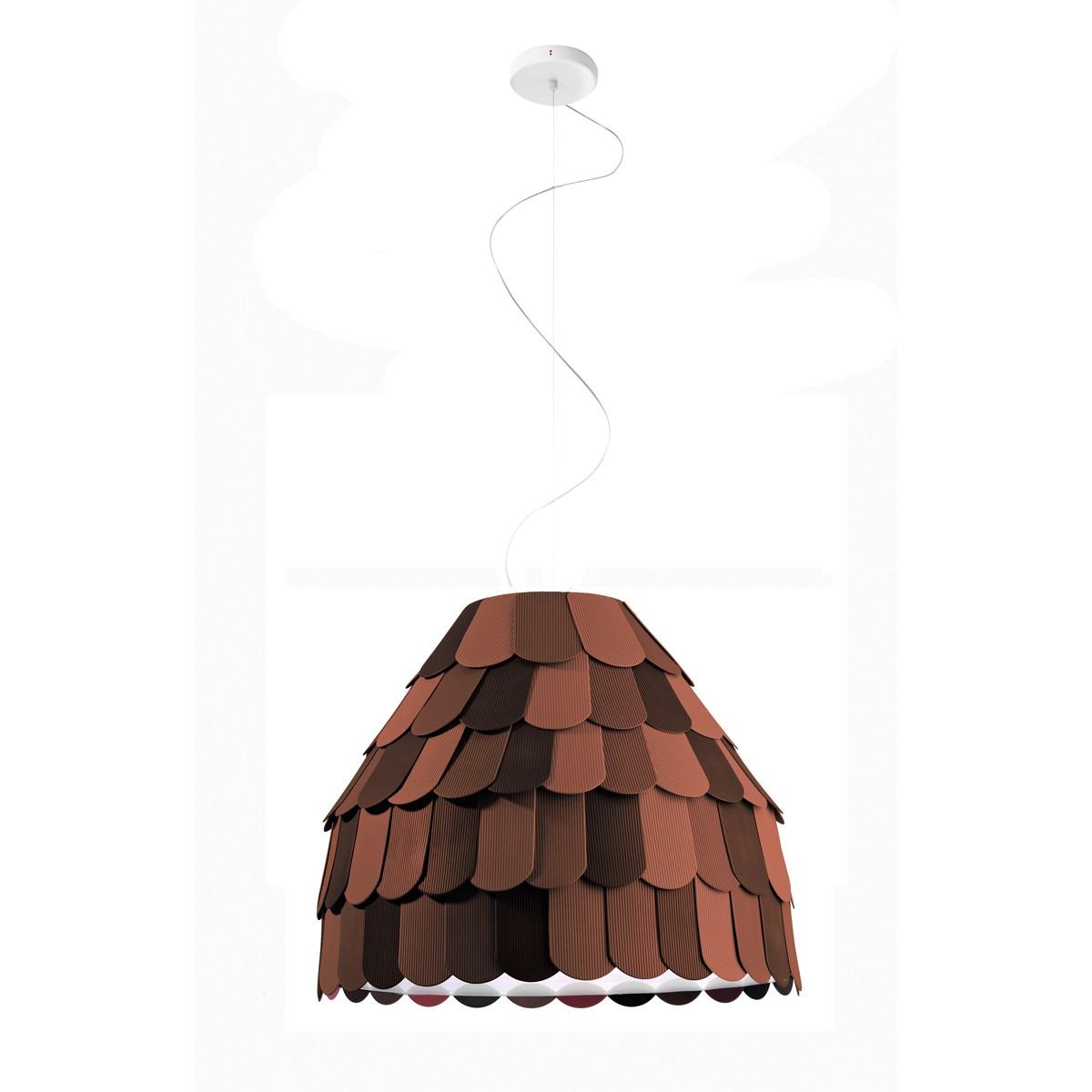 Fabbian Roofer Pendelleuchte A01, braun