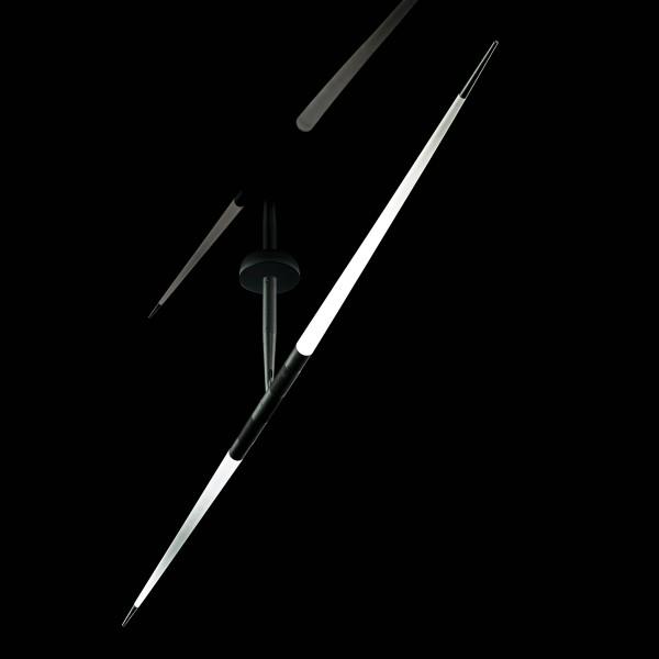 Luceplan Javelot Macro Soffitto, schwarz