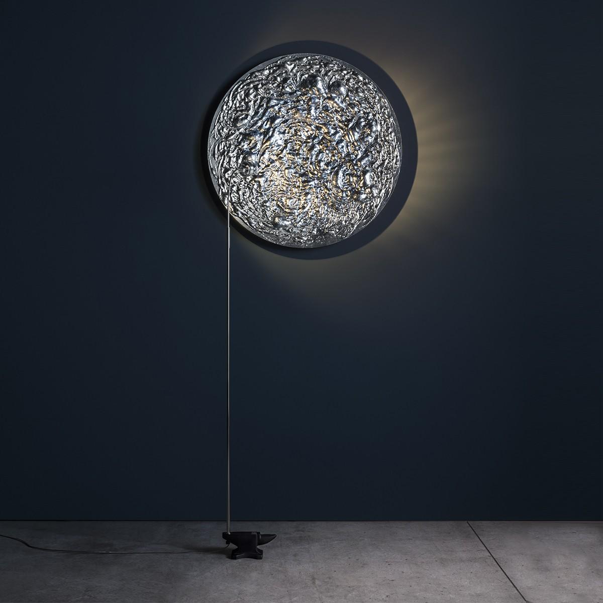 Catellani & Smith Stchu-Moon 08 Wand- / Stehleuchte, Ø: 80 cm, Aluminium / Silber