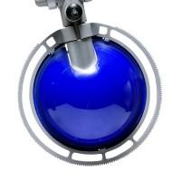Berenice Tavolo Piccola, Gestell: Aluminium, Reflektor: blau