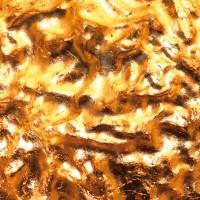Stchu-Moon 05 Wandleuchte, Gold/außen weiß